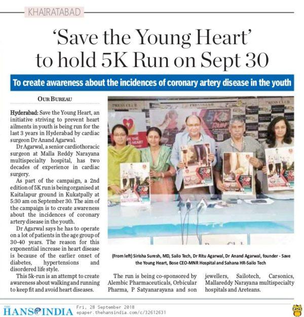 Newspaper article 2k18 run