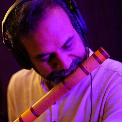 Mr Murthy on flute